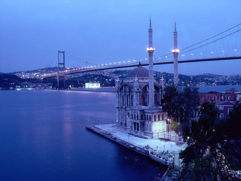 Bosphorus by night in Istanbul